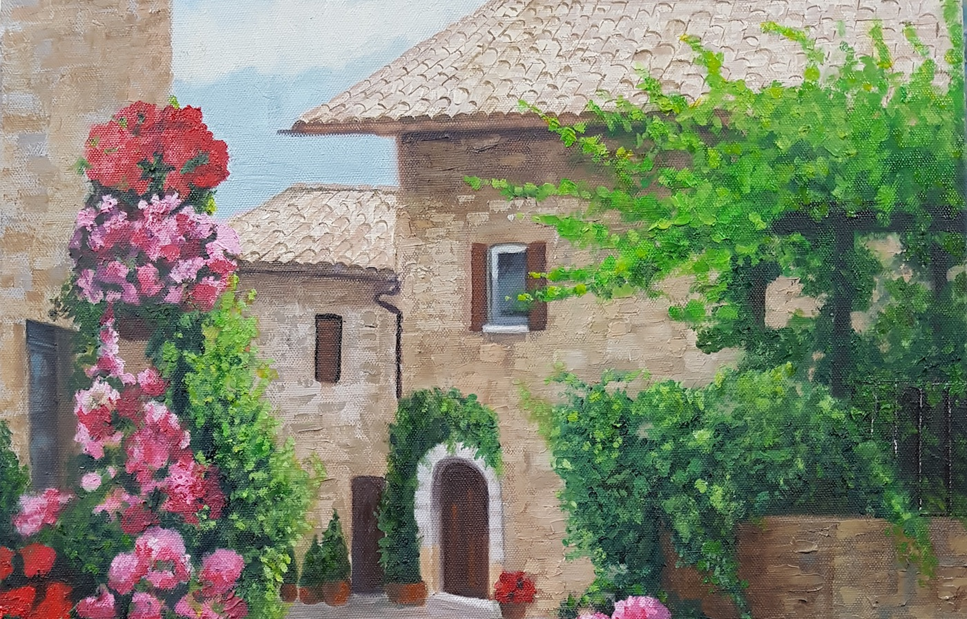 Cottage by Jackie Hamilton - adult painting class