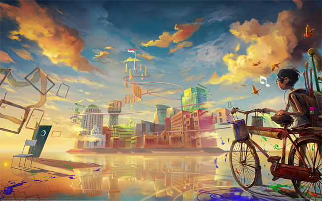 Artistic wallpapers